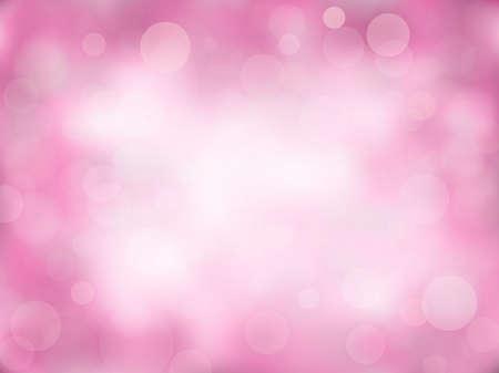 Fondo rosa abstracto bokeh con degradado. Naturaleza borrosa telón de fondo con luces.