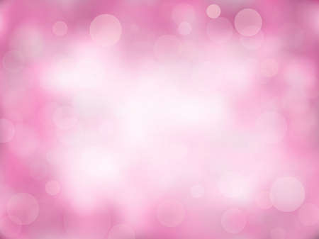 Pink abstract bokeh background with gradient. Nature blurred backdrop with lights.