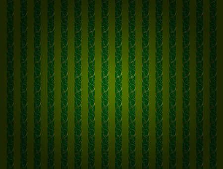 Vintage striped green wallpaper with gold decor. 版權商用圖片 - 131699549