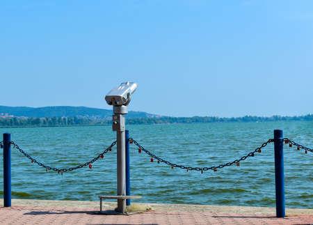 Binocular for viewing landscape in Keszthely.
