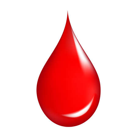 Blood drop on isolated background.