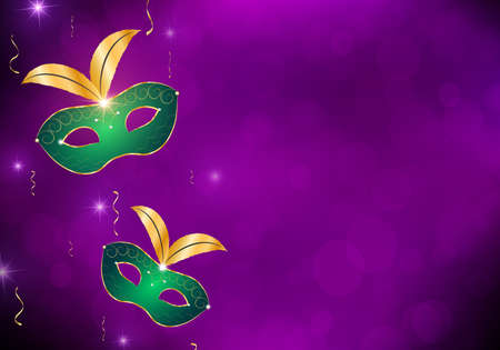 Festival mystic background with venetian mask.