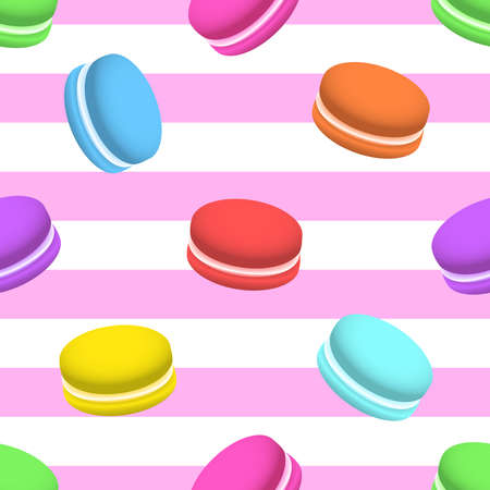 Colorful macaron seamless pattern. Stock Illustratie