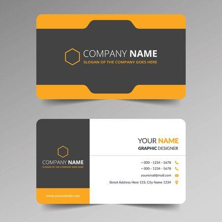 Creative Business Card Template Design Vettoriali