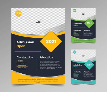 Admission Open Flyer Template Design Vector Illustration