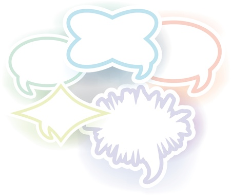 Speech and thought bubbles, vector illustration  Vector