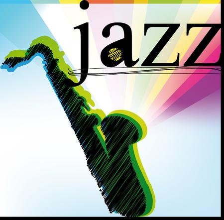 baritones:  Jazz. Vector illustration