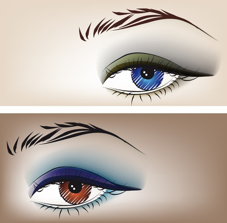 cosmetology: Sketch of beautiful eyes. Vector illustration