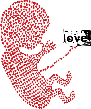fetus made with love. Vector illustration  Vector