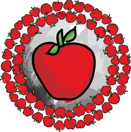 Apples. Vector illustration Stock Vector - 11370671