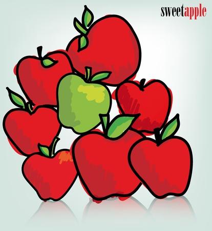 Apples. Vector illustration Stock Vector - 11370698