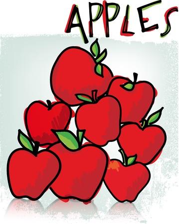 Apples. Vector illustration Stock Vector - 11370705