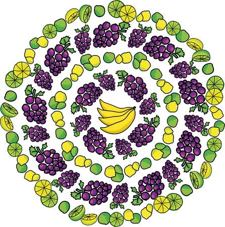 Fruit pattern. Vector illustration Vector
