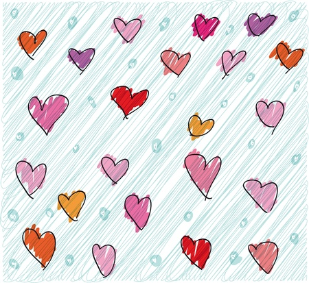valentine pattern. Vector illustration Stock Vector - 11370693