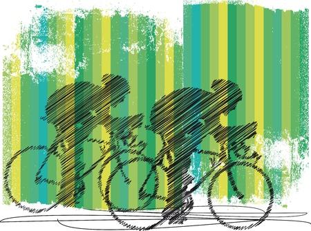 bicycle helmet: Bikers. Vector illustration