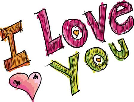 you: amour. Vector illustration Illustration