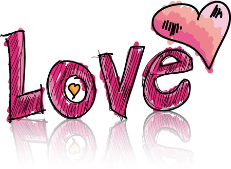 love you: love. Vector illustration Illustration