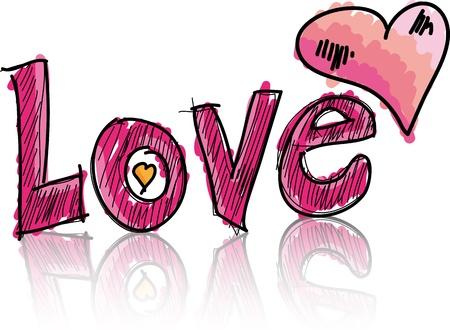 love wallpaper: love. Vector illustration Illustration