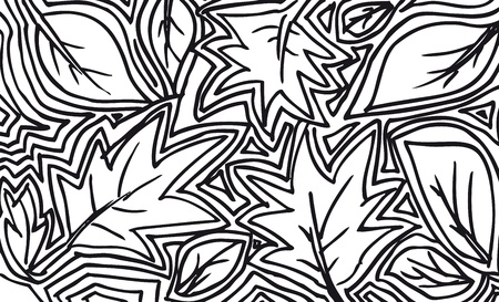 abstract sketch of leaf background. Vector illustration  Vector