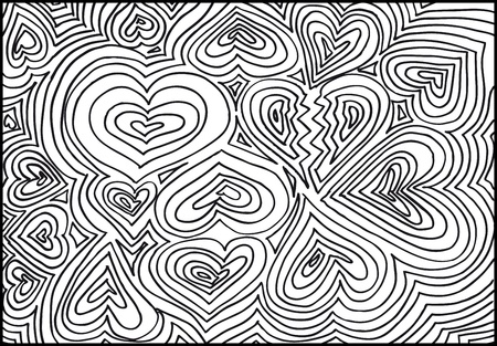 doodle art: hand drawn abstract valentine background. Vector illustration.