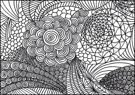 Hand gezeichnet abstrakten Hintergrund. Vektor-Illustration.