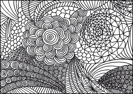doodle art: Hand drawn abstract background. Vector illustration.
