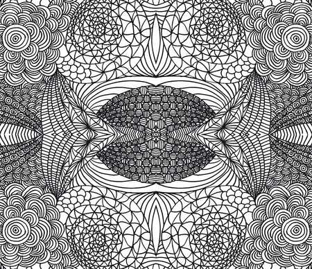fashion sketch: Hand drawn abstract background. Vector illustration.