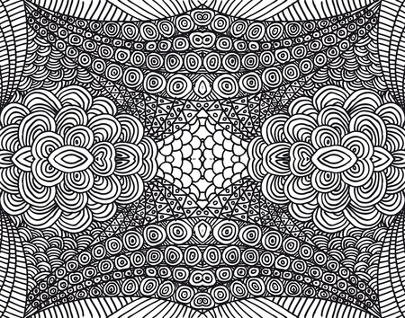 Hand drawn abstract background. Vector illustration. Vector