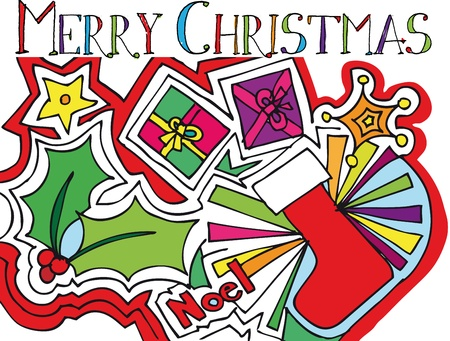 natale: christmas vector illustration  Illustration
