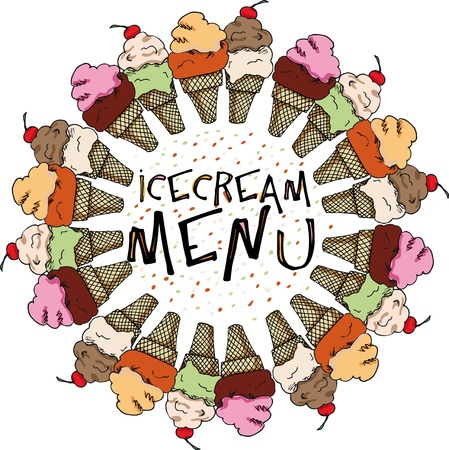 biscuits: Ice Cream Sketch. vector illustration