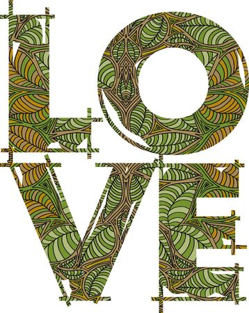 love green. vector illustration  Vector