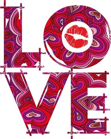 LOVE. vector illustration Stock Vector - 11487009
