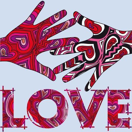 loving hands:  loving hands. Vector illustration