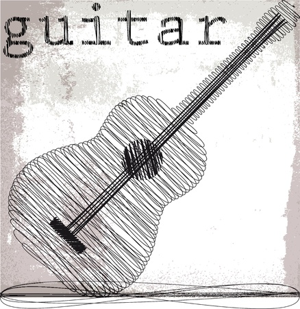Abstract guitar. Vector illustration  Vector