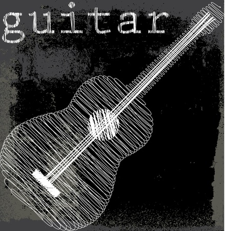 guitarra clásica: Resumen de guitarra. Ilustraci�n vectorial