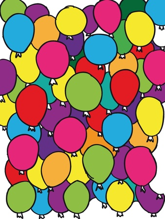 happening: colored balloons background. vector illustrations.