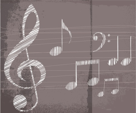 musical note: sketch of music notes. Vector illustration