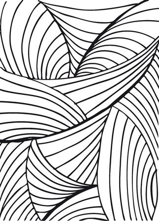 arte optico: Dibujado a mano resumen de antecedentes. Ilustración del vector.