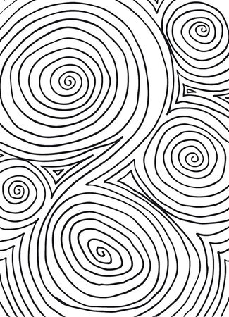 Hand drawn abstract background. Vector illustration.