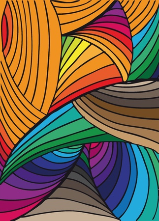 arte optico: Dibujado a mano resumen de antecedentes. Ilustración vectorial.