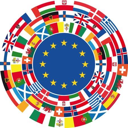 naciones unidas: Europa unida de fondo. Ilustración vectorial Vectores