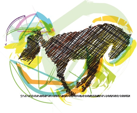 Sketch of abstract horse. Vector illustration Illustration