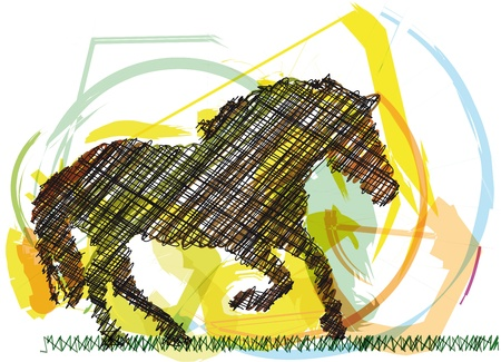 Sketch of abstract horse. Vector illustration Vector