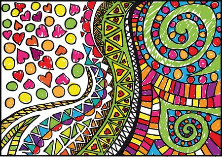 childish: Abstract valentine background. Vector illustration.