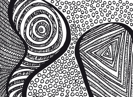 Artistic freehand Background. Vector illustration  Vector