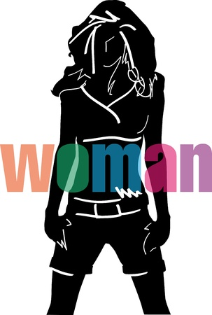 Sketch of fashion woman. Vector illustration Vector