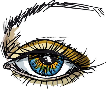 Sketch of beautiful eyes. Vector illustration Stock Vector - 11780142