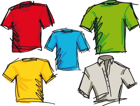 tees graphic tees t shirt printing: tee sketch. Vector illustration