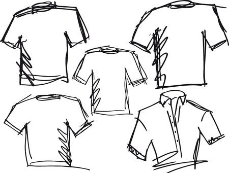 t shirt model: tee schizzo. Vector illustration Vettoriali