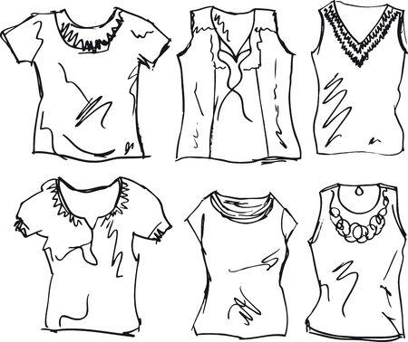 tees: sketch of Women